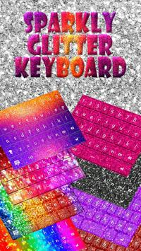 Glowing Glitter Keyboard Theme apk screenshot