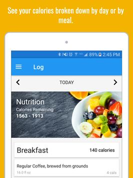 Calorie Counter & Diet Tracker تصوير الشاشة 7