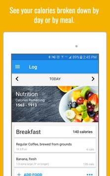 Calorie Counter & Diet Tracker تصوير الشاشة 13