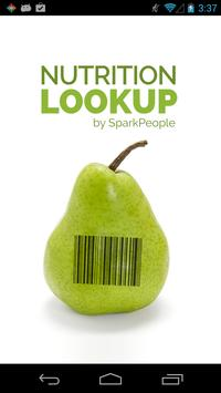 Nutrition Lookup - SparkPeople poster