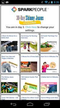 30-Day Skinny Jeans Challenge screenshot 1