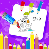 Kids Vehicles Coloring icon