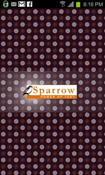 Sparrow SMS Messaging poster
