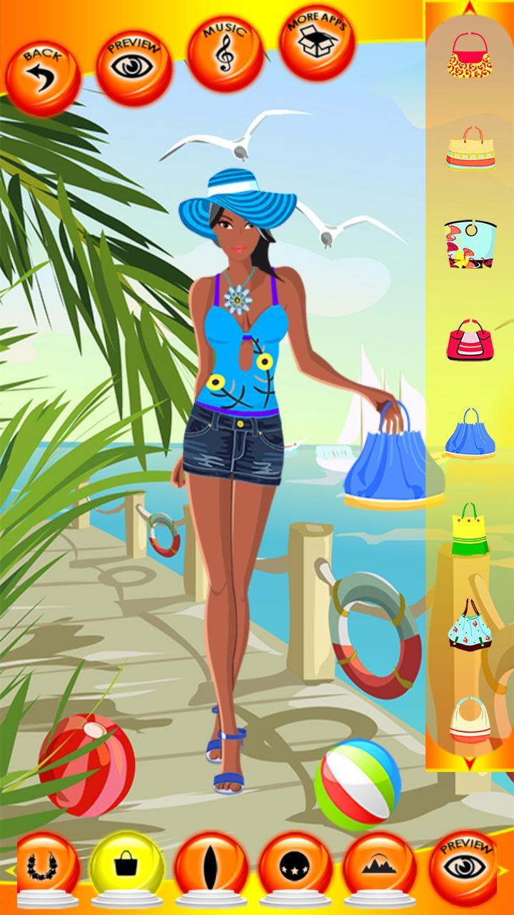 игры одень девушку на пляж