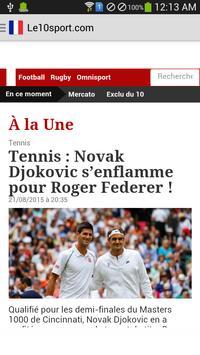 French Sports News apk screenshot