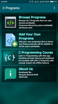 C Programs - Contribute, Learn, Write, Share Code poster