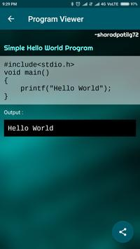 C Programs - Contribute, Learn, Write, Share Code screenshot 9