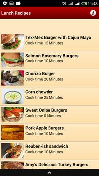 Lunch Recipes screenshot 1