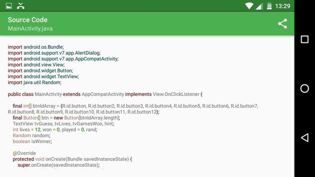 Secret Number with Source Code screenshot 4