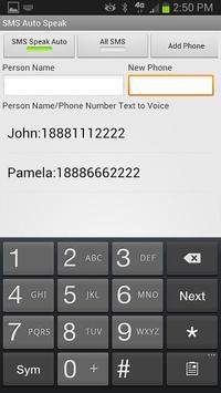 SMS Speak Beta apk screenshot