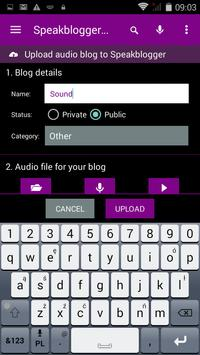 speakblogger apk screenshot