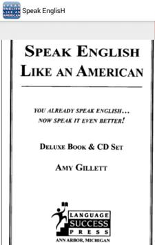 Speak Enligsh like an American poster