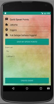 Speak Points! apk screenshot