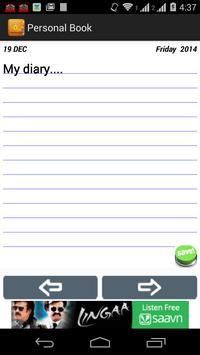 Personal Book apk screenshot