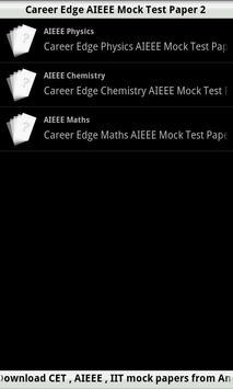 AIEEE Mock Test  2 poster