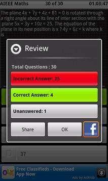 AIEEE Mock Test  2 screenshot 3