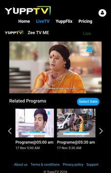 Yupp TV Lite apk screenshot