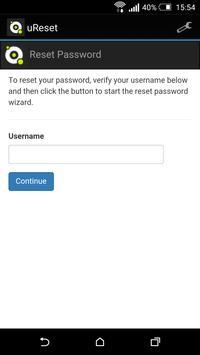 Specops Password Reset apk screenshot