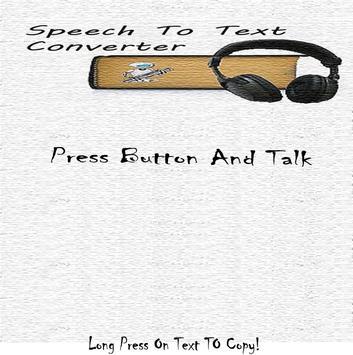 Speech To Text Converter poster