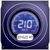 GPS speedometer,Digital odometer-Bike speedometer icon