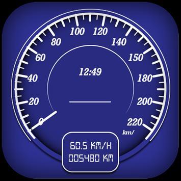 GPS speedometer,Digital odometer-Bike speedometer poster