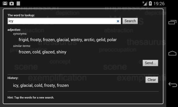 Thesaurus Free apk screenshot