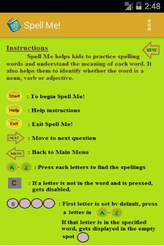 Spell Me! apk screenshot