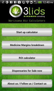 3Lids Marijuana Biz Calculator poster
