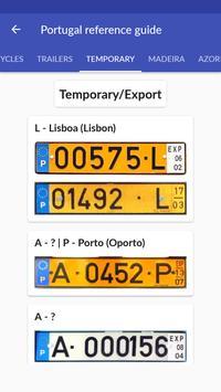 Portugal License Plates screenshot 4