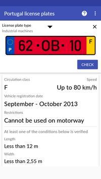 Portugal License Plates screenshot 6
