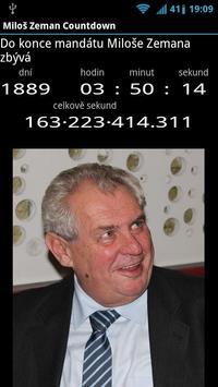 Miloš Zeman Countdown poster
