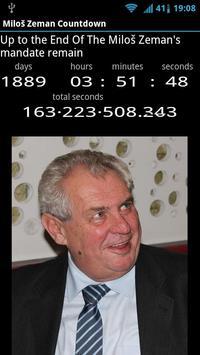 Miloš Zeman Countdown apk screenshot
