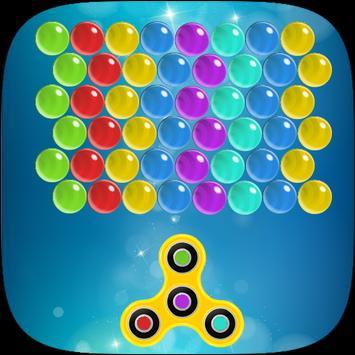 Shoot spinner  bubble poster