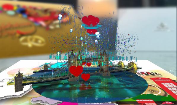 3D AR City Of Romance Card apk screenshot