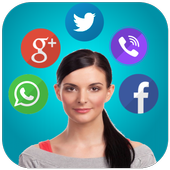 Talking Notification Girl icon