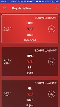 RCB IPL 2017 Live Match apk screenshot