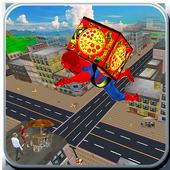 Spider Hero Pizza Delivery icon