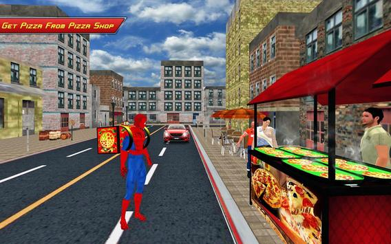 Spider Hero Pizza Delivery apk screenshot