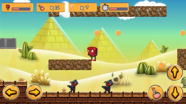 Spider : Sponge Man vs Zombie apk screenshot