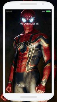 Iron Spidey Lock Screen poster