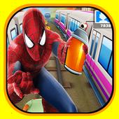 Subway spiderman surfer 3D icon