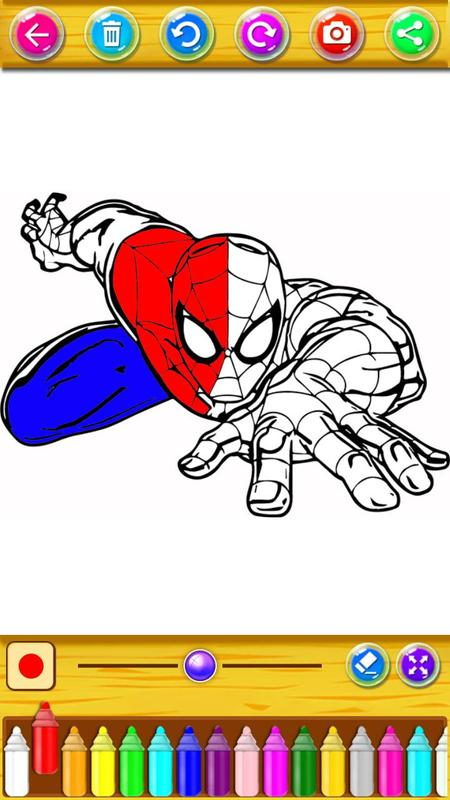 Libro de colorear para superhéroe Spider-man for Android - APK Download