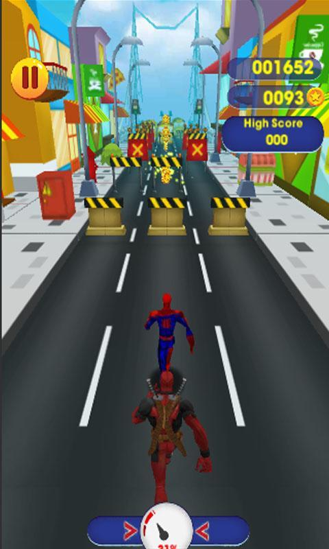 Subway Spider Run Man 0mb Vs Deadpool For Android Apk Download