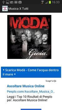 musicaXtutti - Ascolta gratis screenshot 1