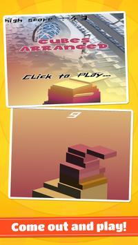 cubes arranged poster