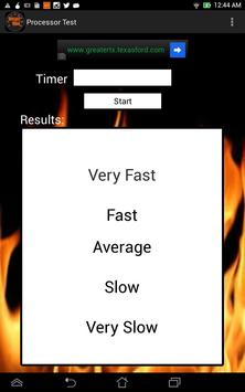Processor Test apk screenshot