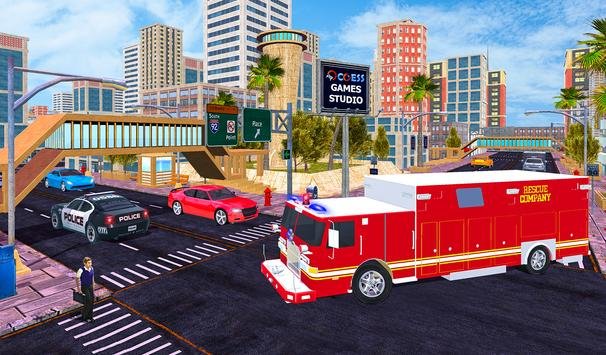 Firefighter Rescue Simulator 3D screenshot 2