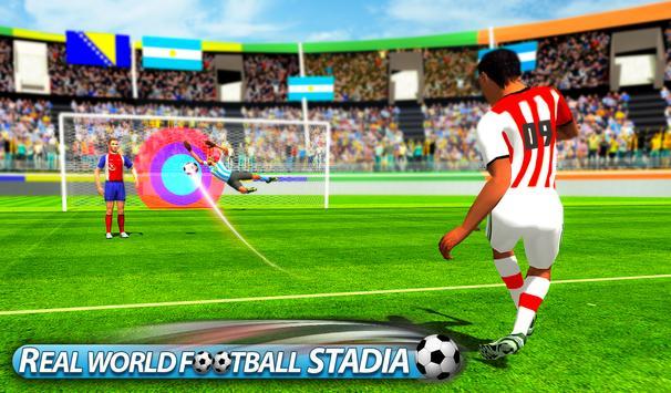 Flick Soccer League : Football Shoot Kick screenshot 1