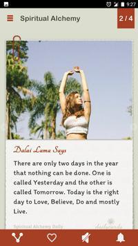 Spiritual Alchemy Dailycards screenshot 1