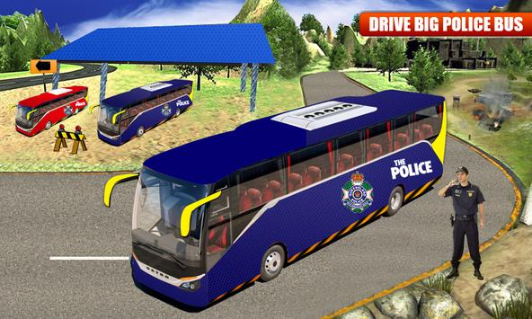 NYPD Police Bus Simulator 3D poster